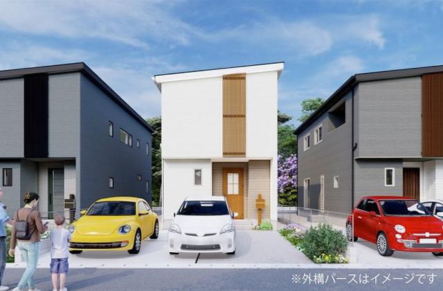 かえるホーム 福島3丁目D 5LDK 新築一戸建住宅 かえるホームの建売住宅【2階建】