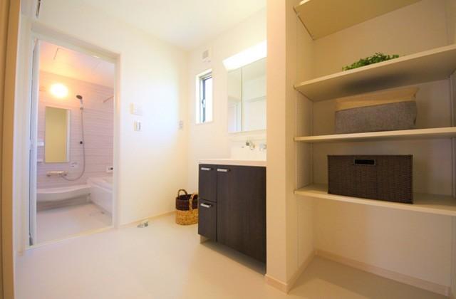 洗面スペース - 建築実例 かえるホーム
