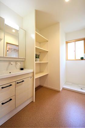 洗面脱衣スペース - 建築実例 かえるホーム