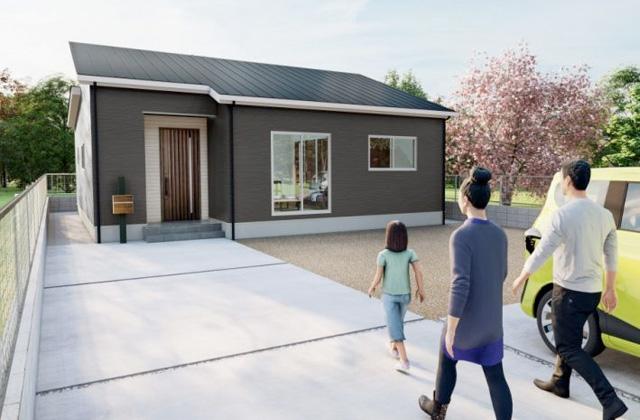 東大小路町 4LDK 新築一戸建住宅「開放感のある勾配天井リビングの家」(薩摩川内市)