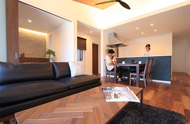 笠之原ストリートモデル「回遊動線のあるリゾート風平屋」万代ホーム