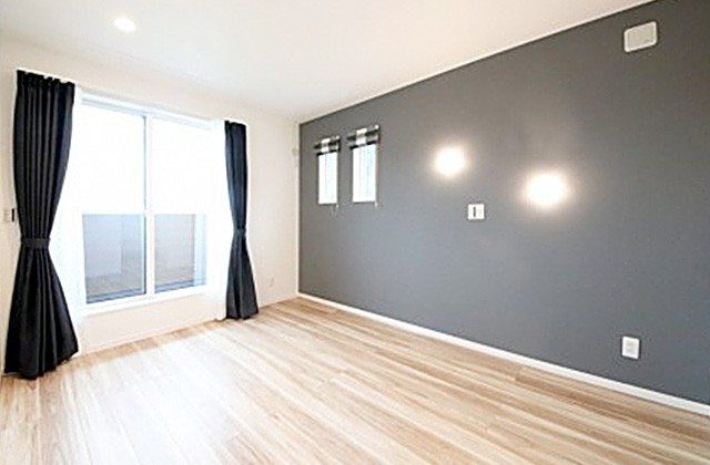 国分ハウジング 建築事例 モノトーンでシンプルな寝室