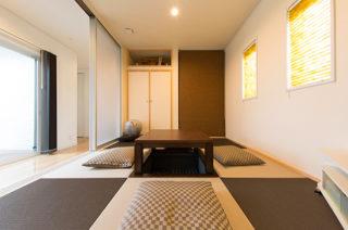 和室 - 夫婦2人の暮らしをゆったりと豊かに楽しむウッドデッキのある平屋 - 建築事例 - レオハウス
