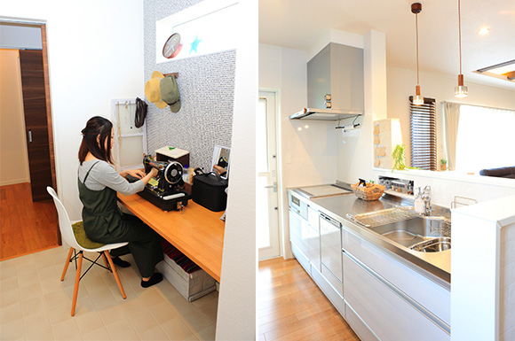 家事動線 - 大好きなインテリアに囲まれながら暮らす標準仕様なのに高性能で快適な家 - 建築事例 - レオハウス