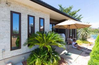 庭 - 家事導線にこだわった安心して子どもを見守られる平屋 - 建築事例 - ヤマダレオハウス