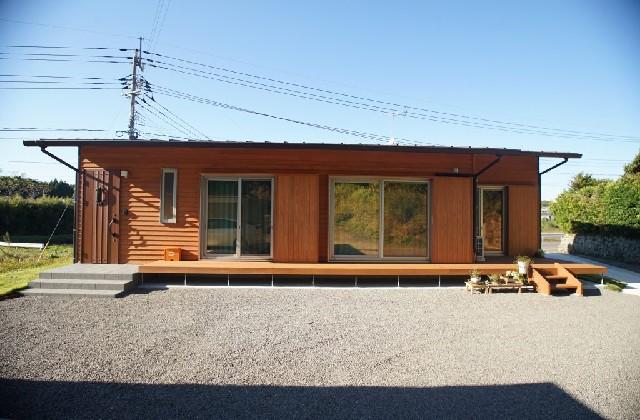 緑の中で豊かに暮らす25坪の平屋 - 外観 建築事例 マル川建設