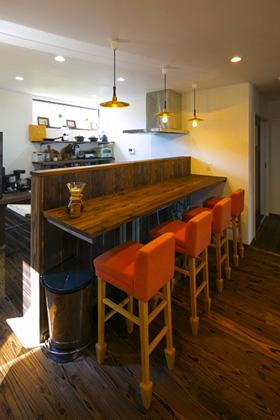キッチンカウンター - 丸和建設 建築事例