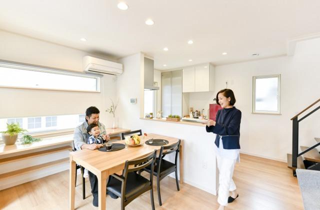 ダイニング 皇徳寺モデルハウス「和モダンインテリアで無駄のない総2階建ての家」