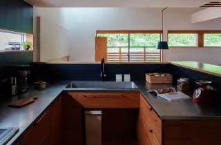 キッチン - 「緑の壁を望む家」(鹿児島市) - ベガハウスの建築事例