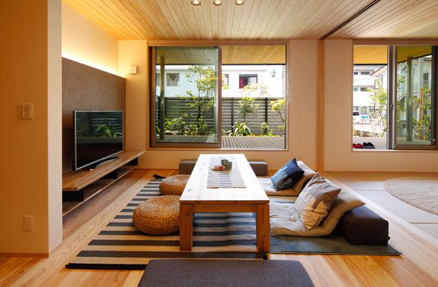ヤマサハウス 寿モデルハウス「お気に入りのカフェのような空間があるZEHモデル」(鹿屋市)