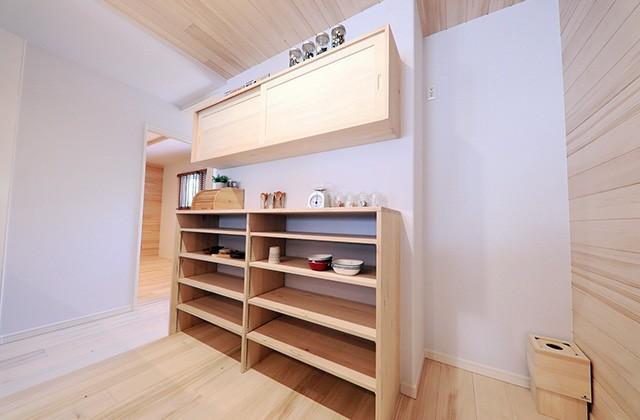 もみの木の食器棚 - もみの木ハウス・かごしま 建築事例