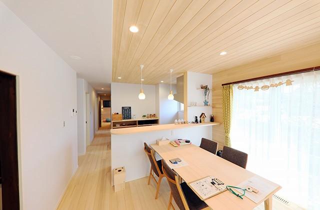 細長い敷地でも暮らしやすく空間も広く感じる動線のもみの木の家 - もみの木ハウス・かごしま 建築事例