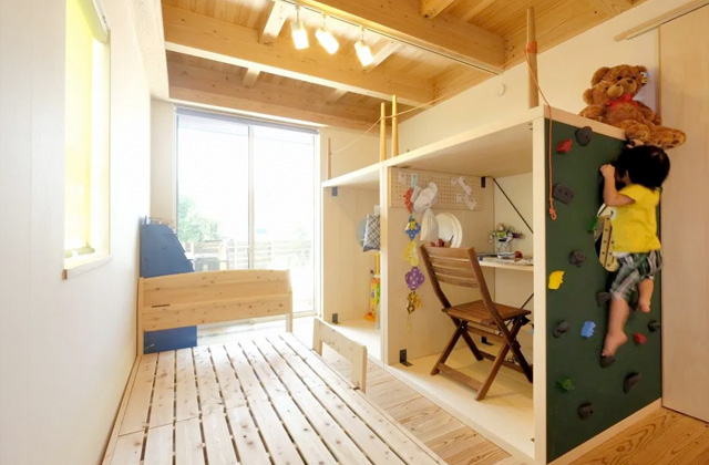 子供部屋 - 開放的な空間で四季を感じられる理想の平屋 - 建築実例 - MOOK HOUSE