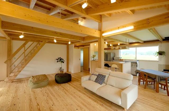 リビング - 木のぬくもりが安らぎを生み出すオープンな住まい - 建築実例 - MOOK HOUSE