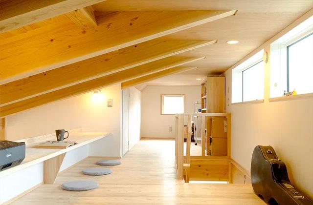 ロフト - 木のぬくもりが安らぎを生み出すオープンな住まい - 建築実例 - MOOK HOUSE