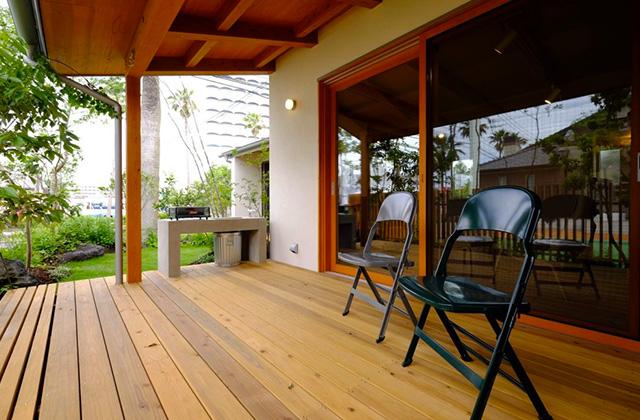 ウッドデッキ - 南日本ハウジングプラザ「家で過ごす毎日が大好きになるMOOK HOUSEの繋がる家」(鹿児島市)