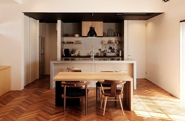 建築事例 中池組 色々な素材を使用したカタログハウス