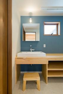 洗面スペース - 建築事例 中池組 楽しいご夫婦が暮らす優しくてかっこいい家