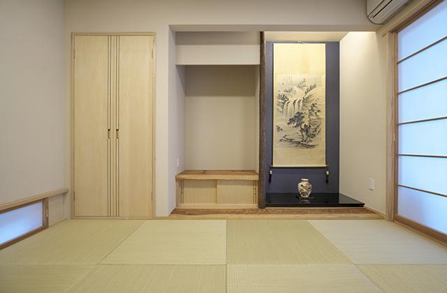 和室 - シンプルなデザインの中にセンスが光る家 - 建築事例 - 中池組