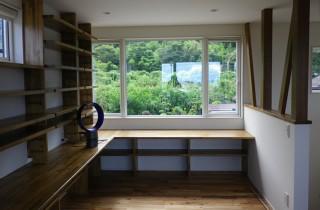 成尾建設/R+house鹿児島中央 建築事例  2階リビングの眺望