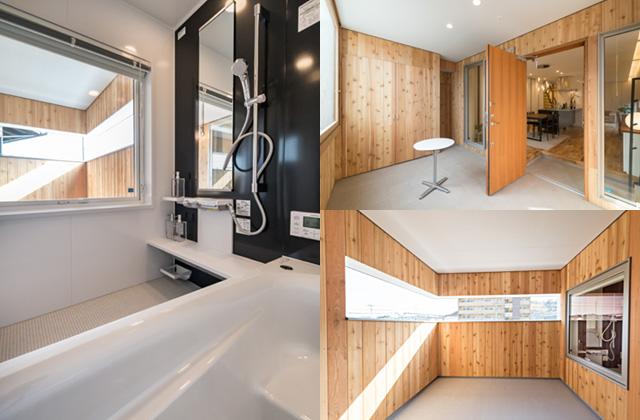 アトリエ建築家とつくる高性能デザイナーズ住宅「R+house 不思議な箱の家」バスルーム