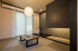 和室 - 白×黒のビンテージが似合う外観と家事ラク動線の平屋 - NEOデザインホーム - 建築事例