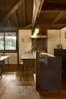 キッチンのバーカウンター - サイエンスホーム鹿児島店 建築実例