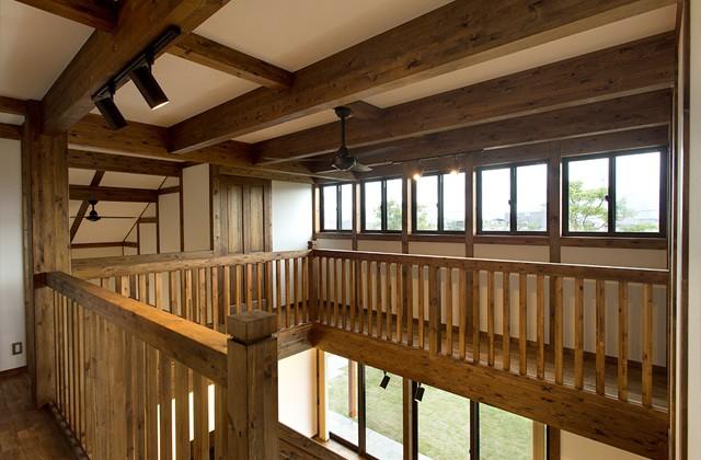 回廊式の2階 - サイエンスホーム鹿児島店 建築実例