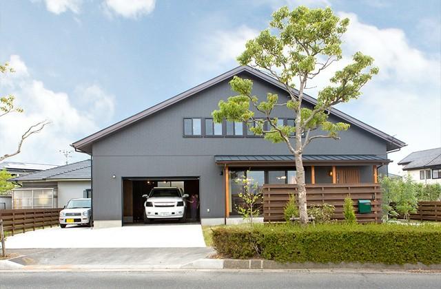 大屋根の外観 - サイエンスホーム鹿児島店 建築実例