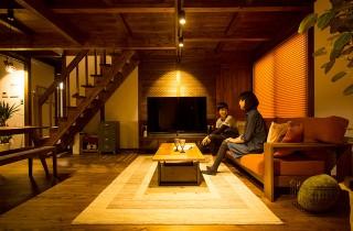 シックなリビング - サイエンスホーム鹿児島店 建築実例