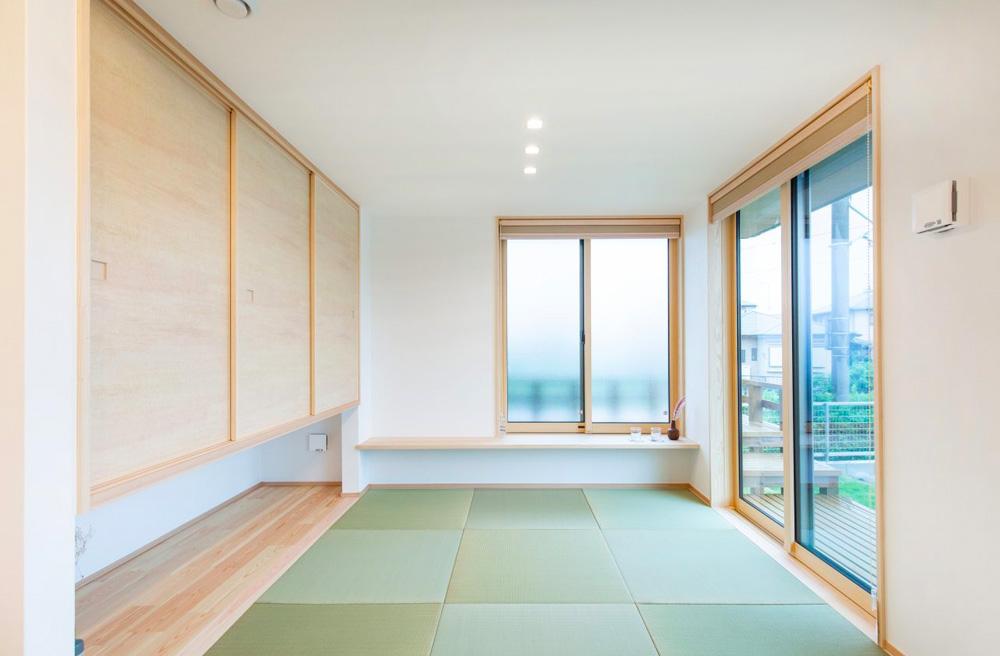 和室 - 東餅田モデルハウス「価格も、見た目も、性能も、ちょうどいい3LDK+高天井の平屋 」(姶良市)