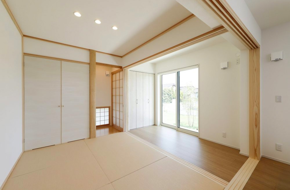 和室 - 旭原6期モデルハウス 平屋 4LDK+勾配天井