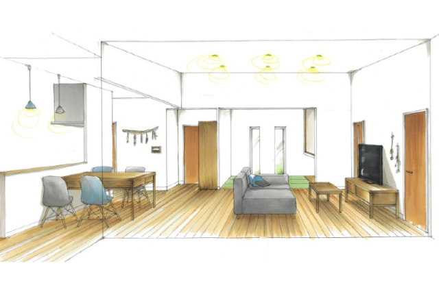 薩摩川内市永利町にて「キッチンを中心としたコミュニケーションのとりやすい家」の新築発表会【4/11,12,18,19】