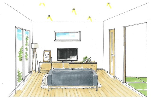 南さつま市加世田村原にて「天井高3m50cm!!開放感のある平屋」の新築発表会