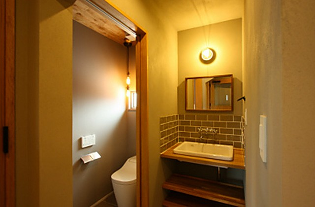 洗面トイレ - ツマガリハウス 建築事例