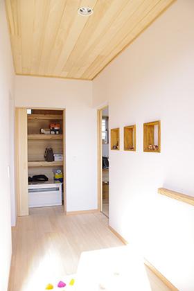 収納 | 里山ならではの自然素材の家&夏は涼しく冬は暖かい知恵満載の家| 建築事例 | 山口建築