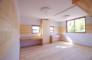子供部屋 | 里山ならではの自然素材の家&夏は涼しく冬は暖かい知恵満載の家| 建築事例 | 山口建築