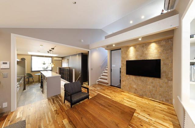 土地を最大限に生かす設計の中3階に子供部屋のある家 ヤマサハウス