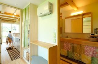 キッチンからの動線 - ヤマサハウス