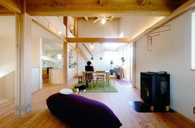 広々としたワンルームのリビング・ダイニング - ヤマサハウス 建築事例