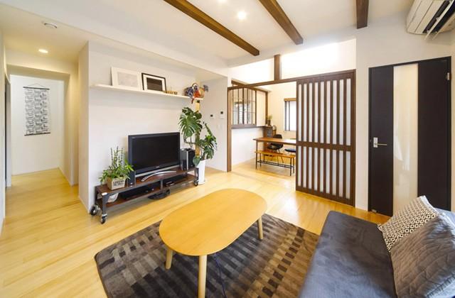 ヤマサハウス 建築事例 - 転勤先の離島から家づくりをすすめた心落ち着く和モダンの住まい