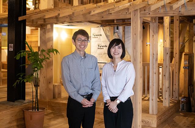 ヤマサハウス管理本部の平野さん(左)、岩松さん(右)が迎えてくれました
