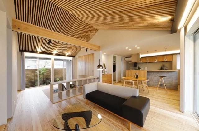 リビング AIタウン天辰モデルハウス「これからの時代を考えた一歩先行くエポックな平屋」(薩摩川内市)