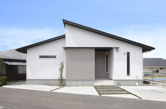 外観 - サンライズ石谷モデルハウス「プライベート空間とLDKが心地よく繋がる住まい」(鹿児島市)